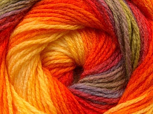 Fiber Content 100% Acrylic, Yellow, Orange, Brand ICE, Green, Camel, Yarn Thickness 3 Light  DK, Light, Worsted, fnt2-22036