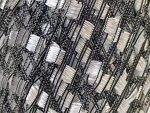 Trellis 20 stitches and 28 rows for 10 cm x 10 cm (4& x 4&) Fiber Content 100% Polyester, White, Brand ICE, Black, Yarn Thickness 5 Bulky  Chunky, Craft, Rug, fnt2-22302