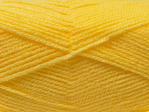 Fiber Content 100% Acrylic, Yellow, Brand Ice Yarns, Yarn Thickness 3 Light  DK, Light, Worsted, fnt2-22429