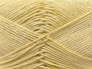 Fiber Content 100% Mercerised Cotton, Light Yellow, Brand ICE, Yarn Thickness 2 Fine  Sport, Baby, fnt2-23328