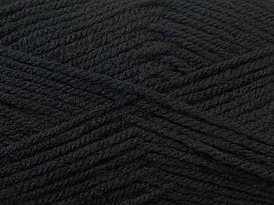 Worsted  Fiber Content 100% Acrylic, Brand ICE, Black, Yarn Thickness 4 Medium  Worsted, Afghan, Aran, fnt2-23720