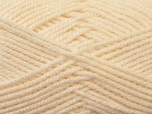 Worsted  Fiber Content 100% Acrylic, Brand Ice Yarns, Cream, Yarn Thickness 4 Medium  Worsted, Afghan, Aran, fnt2-23722