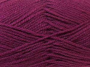 Worsted  Fiber Content 100% Acrylic, Maroon, Brand ICE, Yarn Thickness 4 Medium  Worsted, Afghan, Aran, fnt2-23736