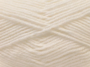 Fiber Content 100% Baby Acrylic, White, Brand ICE, Yarn Thickness 2 Fine  Sport, Baby, fnt2-23774