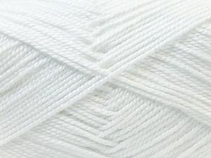Fiber Content 100% Acrylic, White, Brand ICE, Yarn Thickness 2 Fine  Sport, Baby, fnt2-23780
