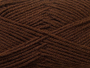 Worsted  Fiber Content 100% Acrylic, Brand ICE, Brown, Yarn Thickness 4 Medium  Worsted, Afghan, Aran, fnt2-24503
