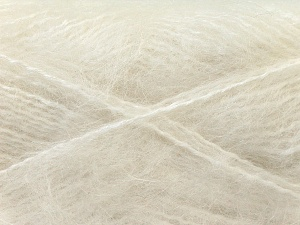 Fiber Content 70% Mohair, 30% Acrylic, White, Brand ICE, Yarn Thickness 5 Bulky  Chunky, Craft, Rug, fnt2-24640
