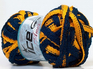 Fiber Content 100% Acrylic, Yellow, Navy, Brand ICE, Yarn Thickness 6 SuperBulky  Bulky, Roving, fnt2-26708