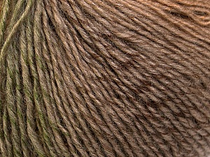 Fiber Content 50% Acrylic, 50% Wool, Khaki, Brand ICE, Camel, Brown Shades, Yarn Thickness 3 Light  DK, Light, Worsted, fnt2-27150