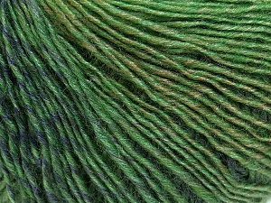 Fiber Content 50% Acrylic, 50% Wool, Brand ICE, Green Shades, Yarn Thickness 3 Light  DK, Light, Worsted, fnt2-27154