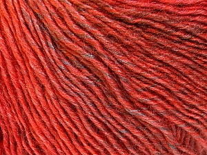 Fiber Content 50% Wool, 50% Acrylic, Red, Brand ICE, Copper, Brown, Yarn Thickness 3 Light  DK, Light, Worsted, fnt2-27157