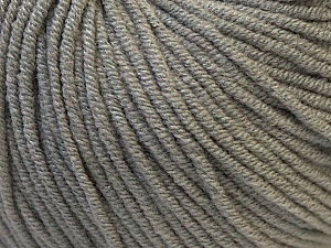 Fiber Content 50% Acrylic, 50% Cotton, Brand ICE, Grey, Yarn Thickness 3 Light  DK, Light, Worsted, fnt2-27351