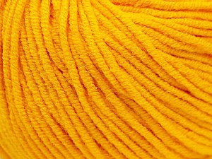 Fiber Content 50% Acrylic, 50% Cotton, Yellow, Brand ICE, Yarn Thickness 3 Light  DK, Light, Worsted, fnt2-27356