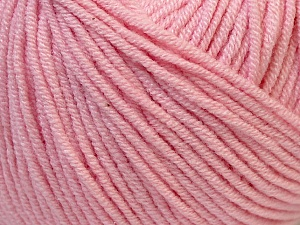 Fiber Content 50% Acrylic, 50% Cotton, Light Pink, Brand ICE, Yarn Thickness 3 Light  DK, Light, Worsted, fnt2-27360