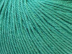 Fiber Content 50% Silk, 30% Merino Superfine, 20% Cashmere, Brand ICE, Emerald Green, Yarn Thickness 3 Light  DK, Light, Worsted, fnt2-30786