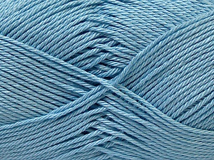 Fiber Content 100% Mercerised Cotton, Light Blue, Brand ICE, Yarn Thickness 2 Fine  Sport, Baby, fnt2-32540