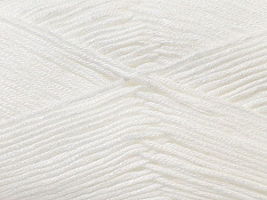 Fiber Content 100% Antibacterial Dralon, White, Brand ICE, Yarn Thickness 2 Fine  Sport, Baby, fnt2-32828