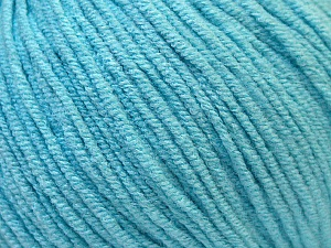 Fiber Content 50% Cotton, 50% Acrylic, Light Turquoise, Brand ICE, Yarn Thickness 3 Light  DK, Light, Worsted, fnt2-33062