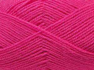 Fiber Content 100% Baby Acrylic, Brand Ice Yarns, Fuchsia, Yarn Thickness 2 Fine  Sport, Baby, fnt2-33136