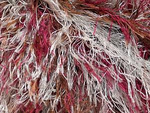 Fiber Content 100% Polyester, Light Grey, Brand ICE, Burgundy, Brown, Yarn Thickness 5 Bulky  Chunky, Craft, Rug, fnt2-33976
