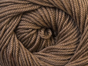 Fiber Content 100% Wool, Brand ICE, Camel Brown, Yarn Thickness 3 Light  DK, Light, Worsted, fnt2-34713