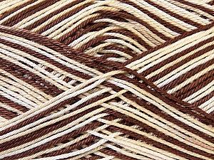 Ne: 8/4. Nm 14/4 Fiber Content 100% Mercerised Cotton, White, Brand ICE, Cream, Brown, Yarn Thickness 2 Fine  Sport, Baby, fnt2-34751