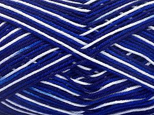 Ne: 8/4. Nm 14/4 Fiber Content 100% Mercerised Cotton, White, Navy, Brand ICE, Blue, Yarn Thickness 2 Fine  Sport, Baby, fnt2-34756