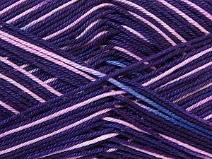 Ne: 8/4. Nm 14/4 Fiber Content 100% Mercerised Cotton, Purple Shades, Pink, Brand ICE, Yarn Thickness 2 Fine  Sport, Baby, fnt2-34767