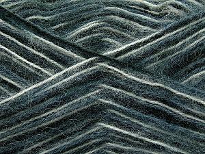 Fiber Content 70% Angora, 30% Acrylic, White, Brand ICE, Grey, Black, Yarn Thickness 2 Fine  Sport, Baby, fnt2-35074