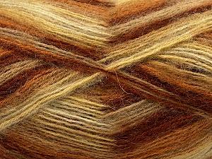 Fiber Content 70% Angora, 30% Acrylic, Yellow, White, Brand ICE, Brown Shades, Yarn Thickness 2 Fine  Sport, Baby, fnt2-35080