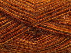 Fiber Content 70% Angora, 30% Acrylic, Orange, Brand ICE, Gold, Copper, Brown, Yarn Thickness 2 Fine  Sport, Baby, fnt2-35083