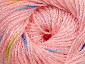 Fiber Content 60% Premium Acrylic, 40% Merino Wool, Yellow, Light Pink, Brand Ice Yarns, Blue, Yarn Thickness 2 Fine  Sport, Baby, fnt2-35577