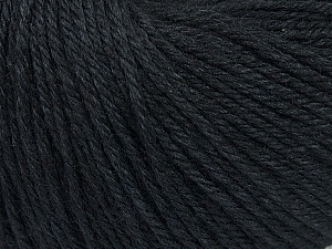 Fiber Content 50% Silk, 30% Merino Superfine, 20% Cashmere, Brand ICE, Black, Yarn Thickness 3 Light  DK, Light, Worsted, fnt2-36990