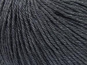 Fiber Content 50% Silk, 30% Merino Superfine, 20% Cashmere, Brand ICE, Dark Grey, Yarn Thickness 3 Light  DK, Light, Worsted, fnt2-36991