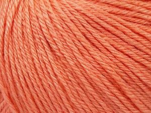Fiber Content 50% Silk, 30% Merino Superfine, 20% Cashmere, Salmon, Brand ICE, Yarn Thickness 3 Light  DK, Light, Worsted, fnt2-36997