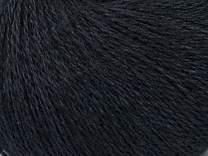 Fiber Content 50% Silk, 40% Merino Superfine, 10% Kid Mohair, Brand ICE, Black, Yarn Thickness 1 SuperFine  Sock, Fingering, Baby, fnt2-37001