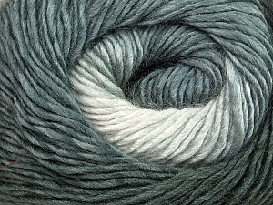 Fiber Content 50% Acrylic, 50% Wool, Brand ICE, Grey Shades, Yarn Thickness 2 Fine  Sport, Baby, fnt2-40621