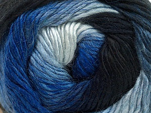 Fiber Content 50% Acrylic, 50% Wool, Brand ICE, Blue Shades, Yarn Thickness 2 Fine  Sport, Baby, fnt2-40622