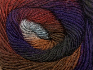 Fiber Content 50% Acrylic, 50% Wool, Purple, Brand ICE, Grey Shades, Brown Shades, Yarn Thickness 2 Fine  Sport, Baby, fnt2-40630