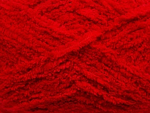 Fiber Content 100% Micro Fiber, Red, Brand ICE, Yarn Thickness 5 Bulky  Chunky, Craft, Rug, fnt2-41756