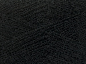 Fiber Content 100% Virgin Wool, Brand ICE, Black, Yarn Thickness 3 Light  DK, Light, Worsted, fnt2-42303