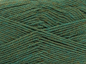 Fiber Content 100% Virgin Wool, Khaki Melange, Brand ICE, Yarn Thickness 3 Light  DK, Light, Worsted, fnt2-42313