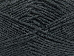 Fiber Content 50% Wool, 50% Acrylic, Brand ICE, Dark Grey, Yarn Thickness 4 Medium  Worsted, Afghan, Aran, fnt2-42528