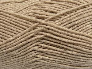 Fiber Content 50% Wool, 50% Acrylic, Latte, Brand Ice Yarns, Yarn Thickness 4 Medium  Worsted, Afghan, Aran, fnt2-42533
