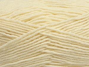 Fiber Content 50% Wool, 50% Acrylic, Brand ICE, Cream, Yarn Thickness 4 Medium  Worsted, Afghan, Aran, fnt2-42535