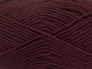 Fiber Content 50% Wool, 50% Acrylic, Maroon, Brand ICE, Yarn Thickness 4 Medium  Worsted, Afghan, Aran, fnt2-42537