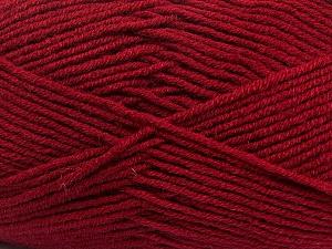 Fiber Content 50% Wool, 50% Acrylic, Brand ICE, Burgundy, Yarn Thickness 4 Medium  Worsted, Afghan, Aran, fnt2-42538