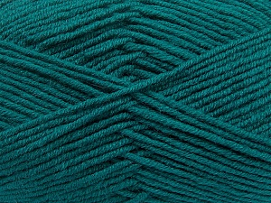 Fiber Content 50% Wool, 50% Acrylic, Teal, Brand ICE, Yarn Thickness 4 Medium  Worsted, Afghan, Aran, fnt2-42540