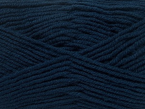 Fiber Content 50% Wool, 50% Acrylic, Navy, Brand Ice Yarns, Yarn Thickness 4 Medium  Worsted, Afghan, Aran, fnt2-42541