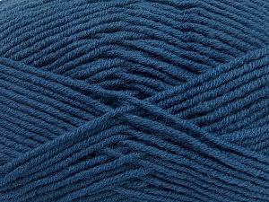 Fiber Content 50% Wool, 50% Acrylic, Brand Ice Yarns, Blue, Yarn Thickness 4 Medium  Worsted, Afghan, Aran, fnt2-42542